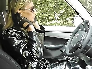 slut leather shemale outdoor love cum